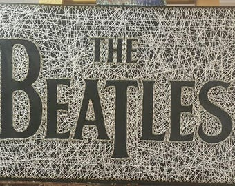 The Beatles Name String Art