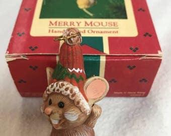 Vintage Hallmark Ornament The Merry Mouse 1985
