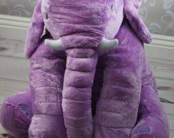 Elephant pillow, baby children pillow, soft, pink