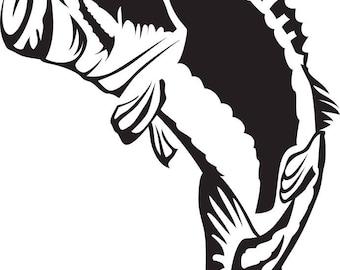 Big Mouth Bass SVG