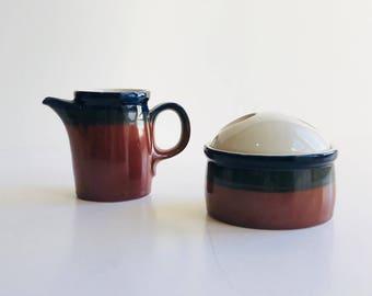 Vintage Mikasa Potter's Craft Ben Seibel Firesong Creamer and Sugar Dish,  Mikasa Fire Song Creamer and Sugar Bowl by Ben Seibel