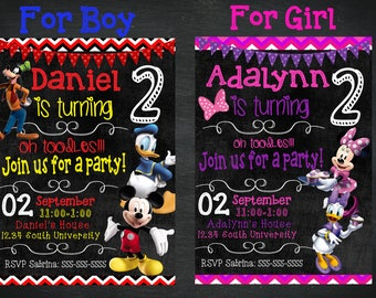 SALE **50% OFF** Mickey or Minnie Mouse Invite