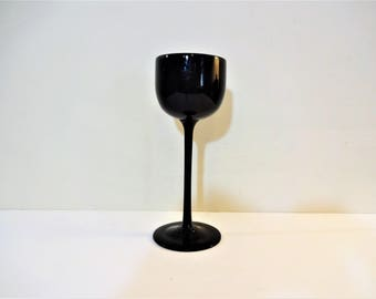 Tall wine glass etsy for Thin stem wine glasses