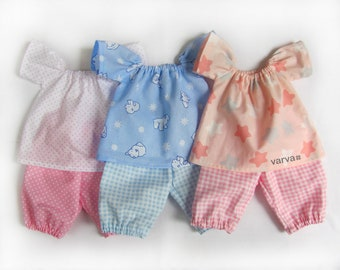 "14"" (36 cm) Waldorf baby doll pajamas. Doll Clothes - 14 inch Waldorf Doll Clothes, Baby Doll Clothes"