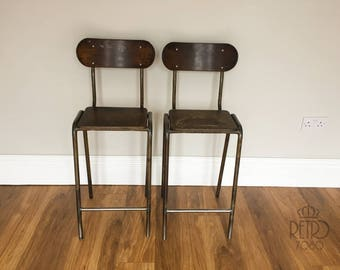 Vintage/Retro set of 2 Industrial Chairs
