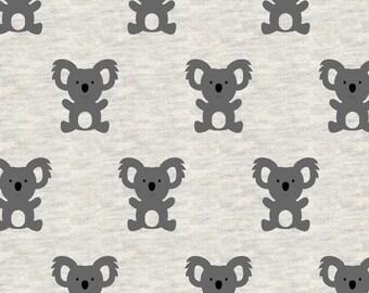 Avalana Knits by Stof Fabrics of Denmark - Koala Bears - Cotton Poly Sweatshirt Knit
