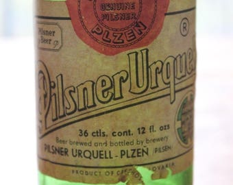 Vintage Pilsner Urquell Beer Bottle Product of Czechoslovakia 12oz