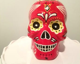 Day of the Dead Skull Decoration Hand Painted
