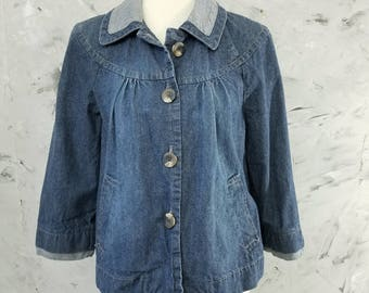 Sonoma 90's Jean Jacket Women's Size Medium - Sonoma Women's Denim Jacket - Vintage Denim Jacket - Vintage Jean Jacket - Size M - Jean Coat