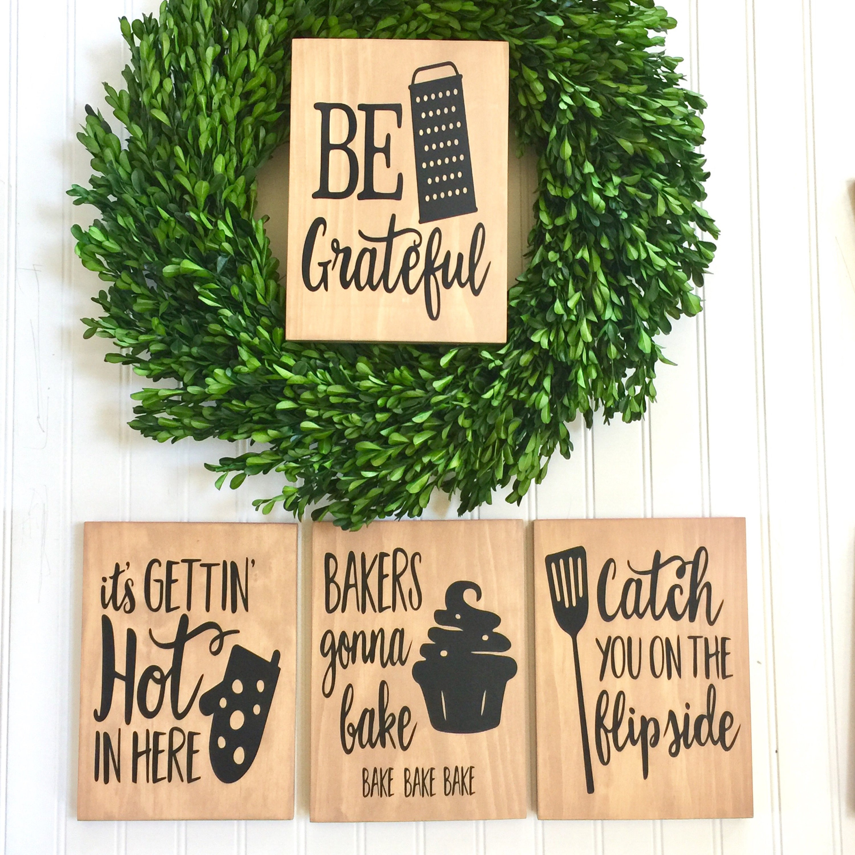 Funny Kitchen Signs: Kitchen Decor Set Of 3 Funny Kitchen Signs Rustic Kitchen