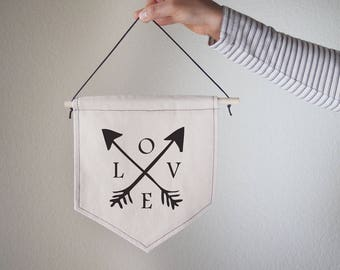 Hanging canvas wall banner-LOVE,Canvas,Wall Art,Home decor,Office Decor