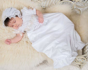 Newborn Christening Gown, 'Jessa' Gown, Girls Christening