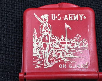 Vintage Match Safe,  Matchbook Cover, Vintage Army, Vintage U. S. Army, 1934, WW2, Army of Guard