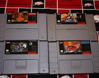 Super Nintendo Game Bundle - NCAA Basketball - Final Fight - Adventures of Dr Franken - Top Gear 3000 - SNES Game Bundle - SNES