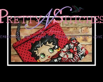 1920's Lady Applique Embroidery Design includes 4X4, 5X7 and 6X8 sizes, Zipper bag not included