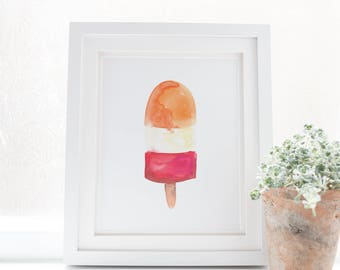 Watercolor Popsicles, Popsicle Nursery Wall Art, Popsicle Print, Summer Wall Art, Kids Playroom Print, Digital Art Print Ice Lollies Artwork