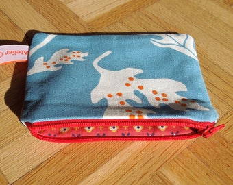 """Wallet printed to slip into the bag """"Blue planet""""."""