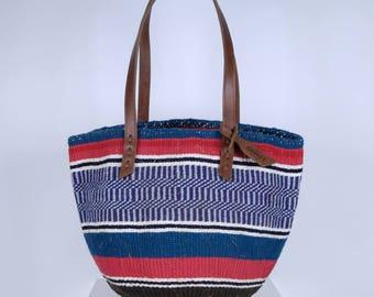 PAMBAZUKA: Handwoven Blue Wool Tote Bag