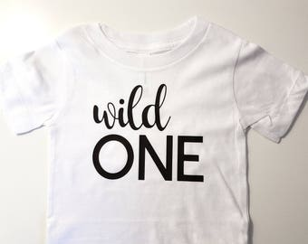 Wild One Kid Shirt, Wild One Birthday Shirt, Wild One Toddler Shirt, Wild One Baby Shirt, First Birthday Shirt, Cute Baby Shirt, One Year