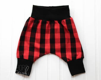 Red Buffalo Plaid Harem Pants