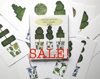 REFILL Topiary & Pots 2018 CD Case Calendar SALE!