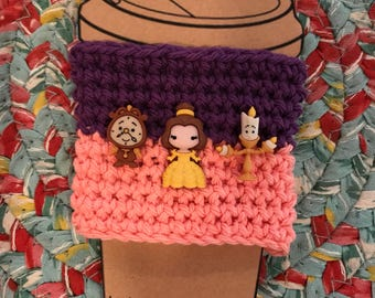 Beauty and The Beast Coffee Cup Cozy