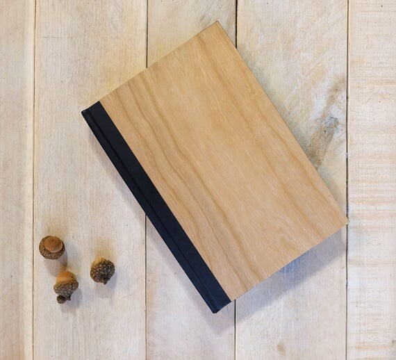 Wooden Journal Natural Wooden Cover Book Notebook Unique Custom Handmade Journals Gift Diary Gift for Him