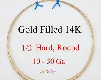 5% OFF Gold Filled 14/20 Wire, 14K Round, Half Hard, 10 12 14 16 18 19 20 21 22 24 26 28 30 Gauge, 6in 1 5 15 25 feet, Jewelry Craft wire