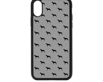Dalmatian Silheouttes Rubber Bumper Case - iPhone X 8 7 6 5 SE, Galaxy S8 S7 S6 S5 Edge Plus, dog pattern