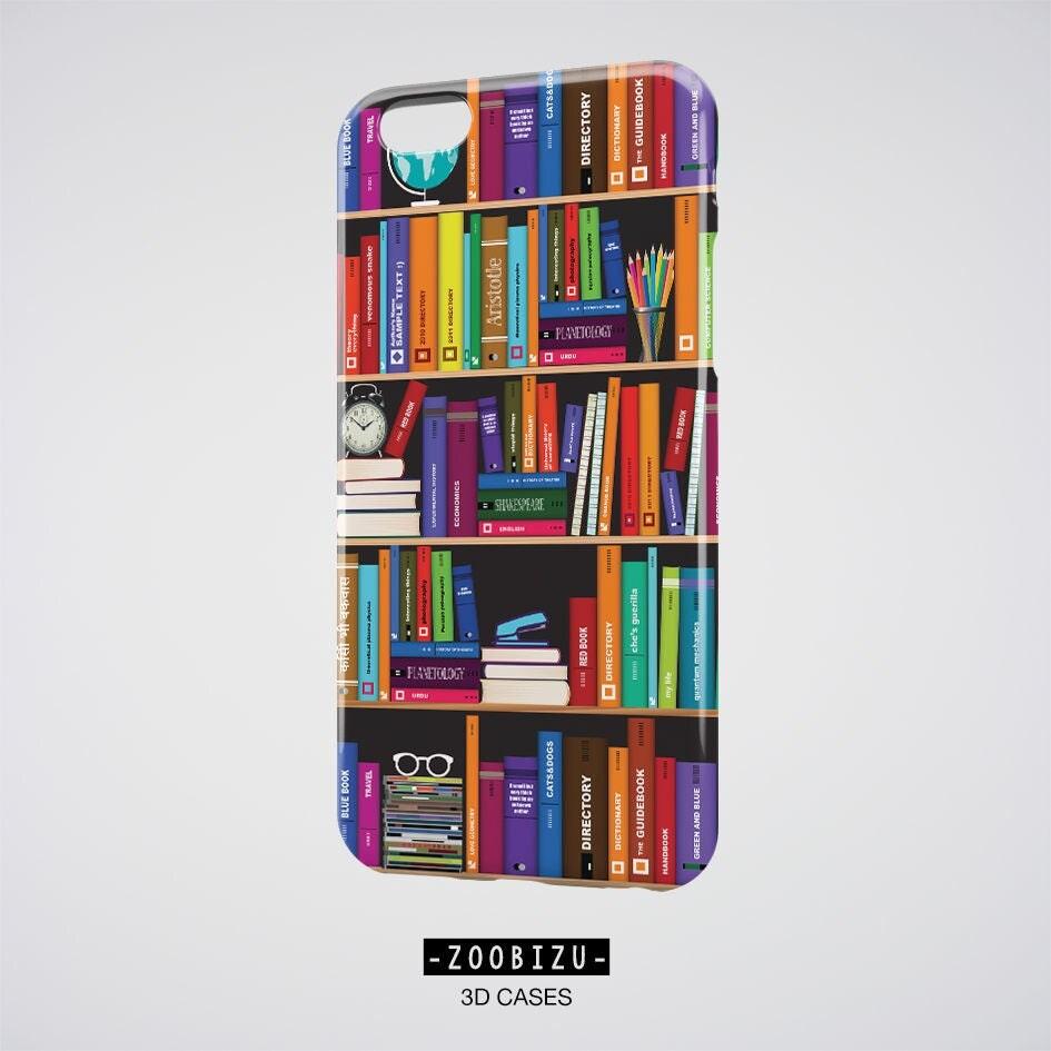 Literary Gifts IPhone 7 Case Bookshelf Samsung Galaxy S7 Edge Bookworm Plus