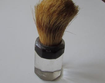 Vintage Lucite Shaving Brush Ever Ready Deco Black & Clear