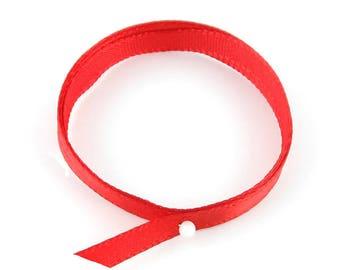 x2m (04 (A) 7mm Red satin ribbon