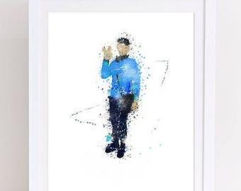 70%OFF Star Trek Watercolor Printable Poster Spock Poster Spock watercolor print star trek print spock watercolor home decor star trek colle