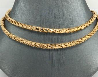 18K Yellow Gold Wheat Chain