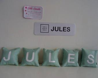 Kit name fabric toy Montessori letters