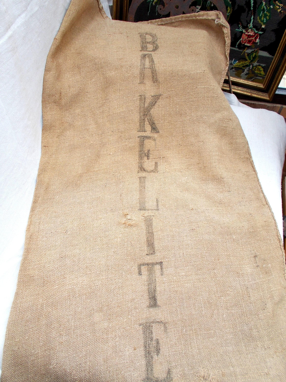 Saco vintage grande hessian bolsa de arpillera saco de - Saco de arpillera ...
