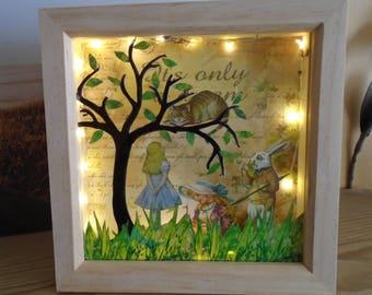 Alice In Wonderland, White Rabbit, Cheshire Cat, Alice In Wonderland Mood Light, Alice In Wonderland Night Light