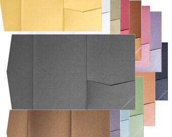 PocketFolds (A7 Himalaya - 7 x 5) - SIlver Metallic - 75 Pocketfolds