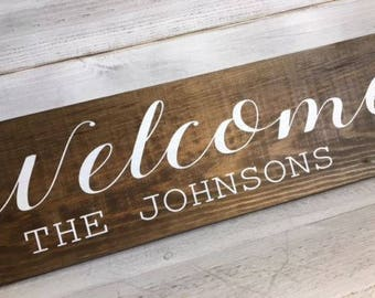 Welcome Wedding Sign/Personalised Wedding Sign/Rustic Welcome Sign/Wedding Sign