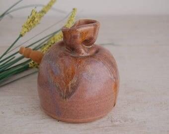Stoneware Honey Pot by Ceramic Artist Barbara Wakefield