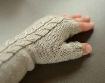 Long Arm Warmers, Women Hand Warmers, Wool Wrist Warmers, Warm Fingerless Gloves, Hand Knit Fingerless Gloves, Knitted Wrist Warmers