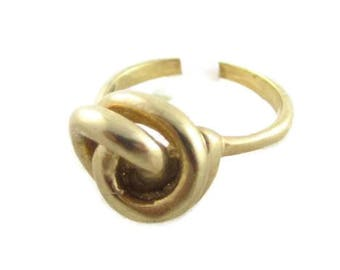 Classic Knotted Ball Design Shape Vintage Gold Plated Toned Ring*Sz6 & 8.25*S202