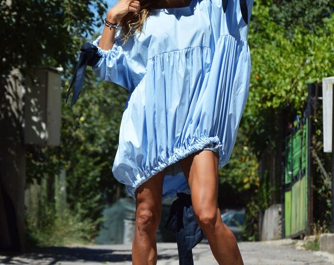 Extravagant Long Cotton Shirt, Asymmetric Loose Shirt, Plus Size Shirt, Oversize Party Top By SSDfashion