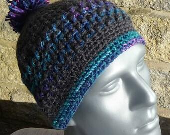 Striped Bobble Hat