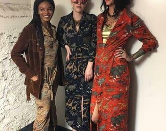 Sarmi safari vintage maxi dress