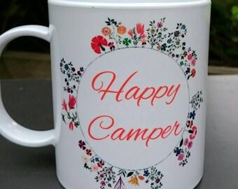 Happy Camper Plastic Camping Mug - Caravan, Motorhome