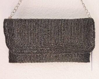 """Clutch bag, black, """"K7 Vidéo"""" collection"""