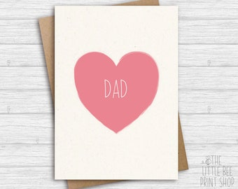 Card for Dad, Card for Daddy, Birthday card for dad, Card for daddy, Father's Day