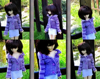 """Free shipping """"MSD 1/4 BJD girl doll clothes sweater"""