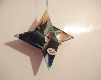 Marvel Comic book origami ninja star hanging ornament